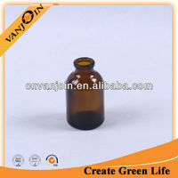 Customized amber small glass medicine bottles