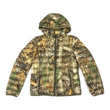 New design nylon women winter hooded ultra light down hunting jacket with small bag