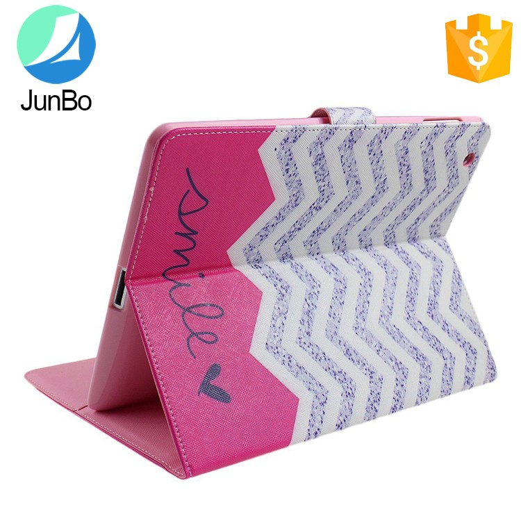 Print Case for Ipad 2/3/4 Wallet pu leather case for ipad