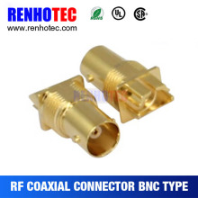 Best Price BNC Jack Gold Plating PCB Edge Mount RF Connectors for Multi Wires