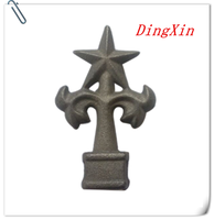 Ornamental Cast Iron Spear, Finial and Gate