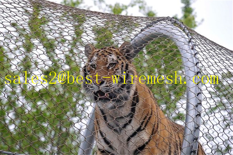 X-Tend Mesh Stainless Steel Wire Rope Mesh Zoo Cages/Tiger Zoo Mesh