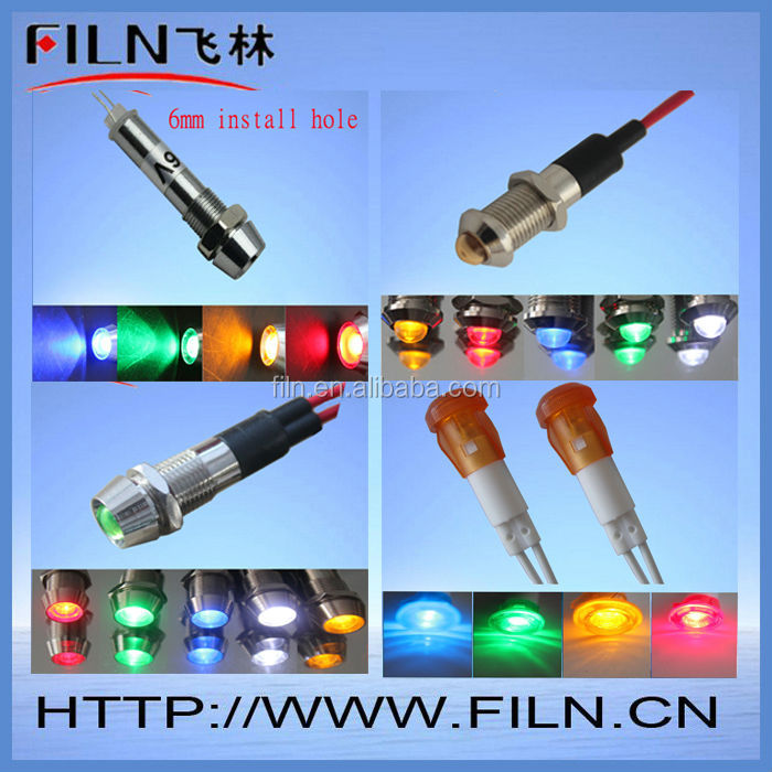 led light cross 12mm install hole copper material 6v 100pcs/lot