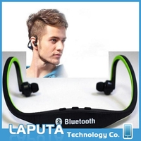 Professional bluetooth headset with mp3 fm radio player wireless stereo sports running handsfree stereo earphones with low price