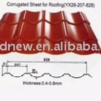 Corrugated Sheet Metal Roofing YX28 207