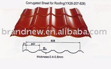 Corrugated Sheet Metal Roofing YX28-207-828