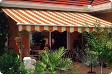 UV Protection Porch Auto Folding Shade Awnings