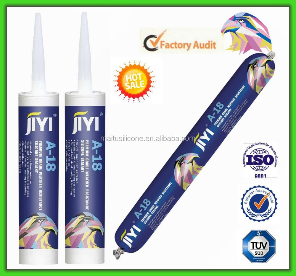JIYI Neutral Silicone Sealant for tempered glass aluminium frame house skylight window