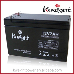 Kweight high quality 12v 7ah small rechargeable sealed lead acid battery