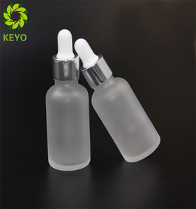 Cosmetic 1oz beard balm container small white dropper bottle 30 ml with pump