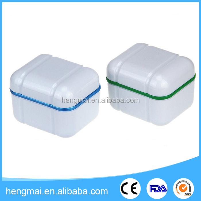 Colorful Dental Product Plastic Dental False Teeth Retainer Box with CE Certificates
