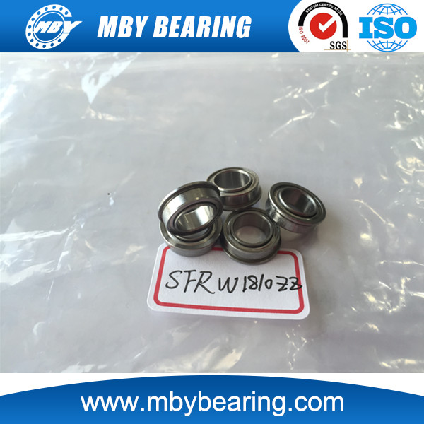 stainless steel Extended inner ring Miniature sealed bearing SFRW1810 ZZ flanged bearing