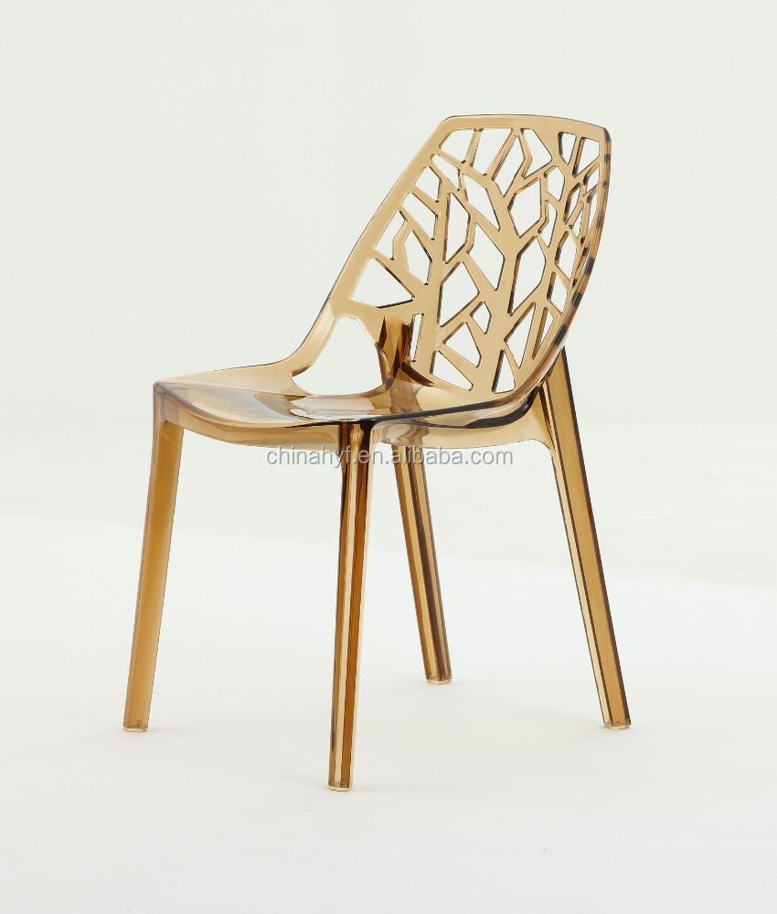 Dise o moderno de pl stico cristal acr lico silla chairpc for Sillas plastico diseno