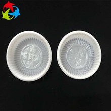 OEM design PET / PP white round blister cake container