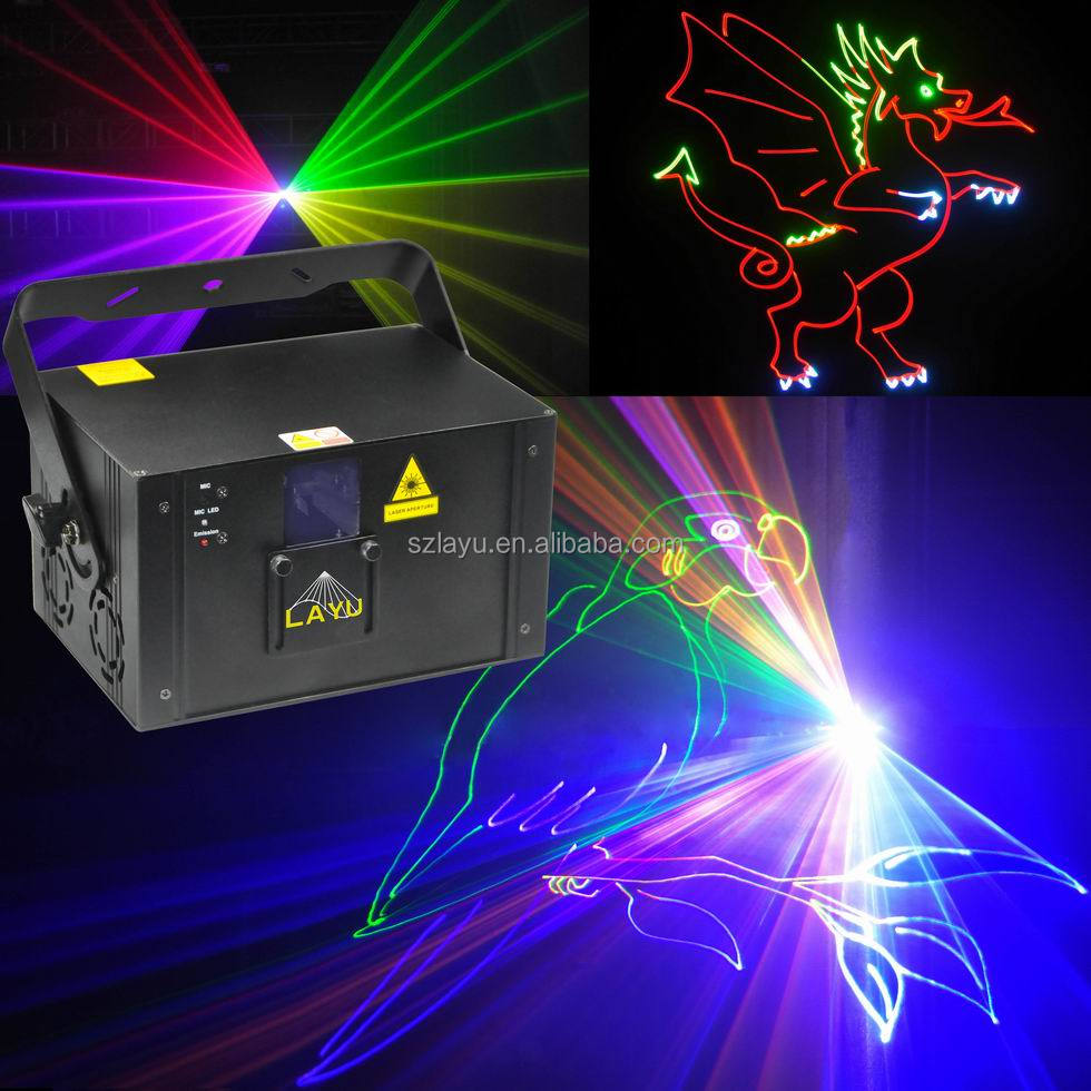 2017 New disco DJ nightclubs 1W RGB cartoon animation <strong>laser</strong> lighting control show system