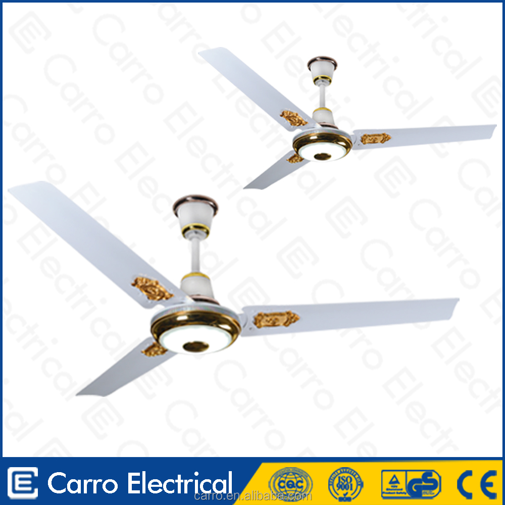 The lastest 12V DC 56inch ceiling fans 36W vertical ceiling fan with led light and remote control