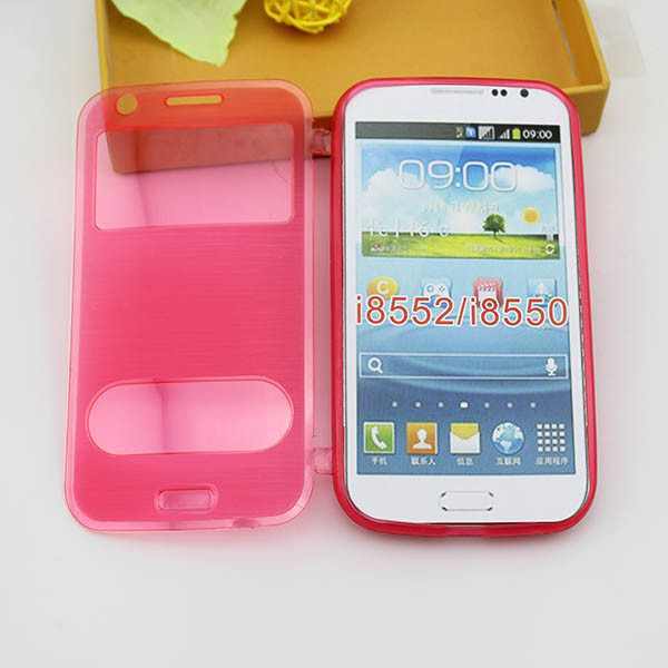 wire drawing back cover case for samsung galaxy win i8552 I8550