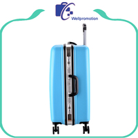 Decent hard pc travel trolley metal frame luggage