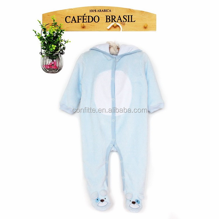 Baby Rompers Autumn Winter Thick Climbing Clothes Newborn boy Warm Romper Knitted Sweater Cartoon lovely Hooded Outwear