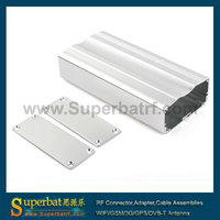 China electronics anodized extruded small aluminum extrusion box25X53X110mm