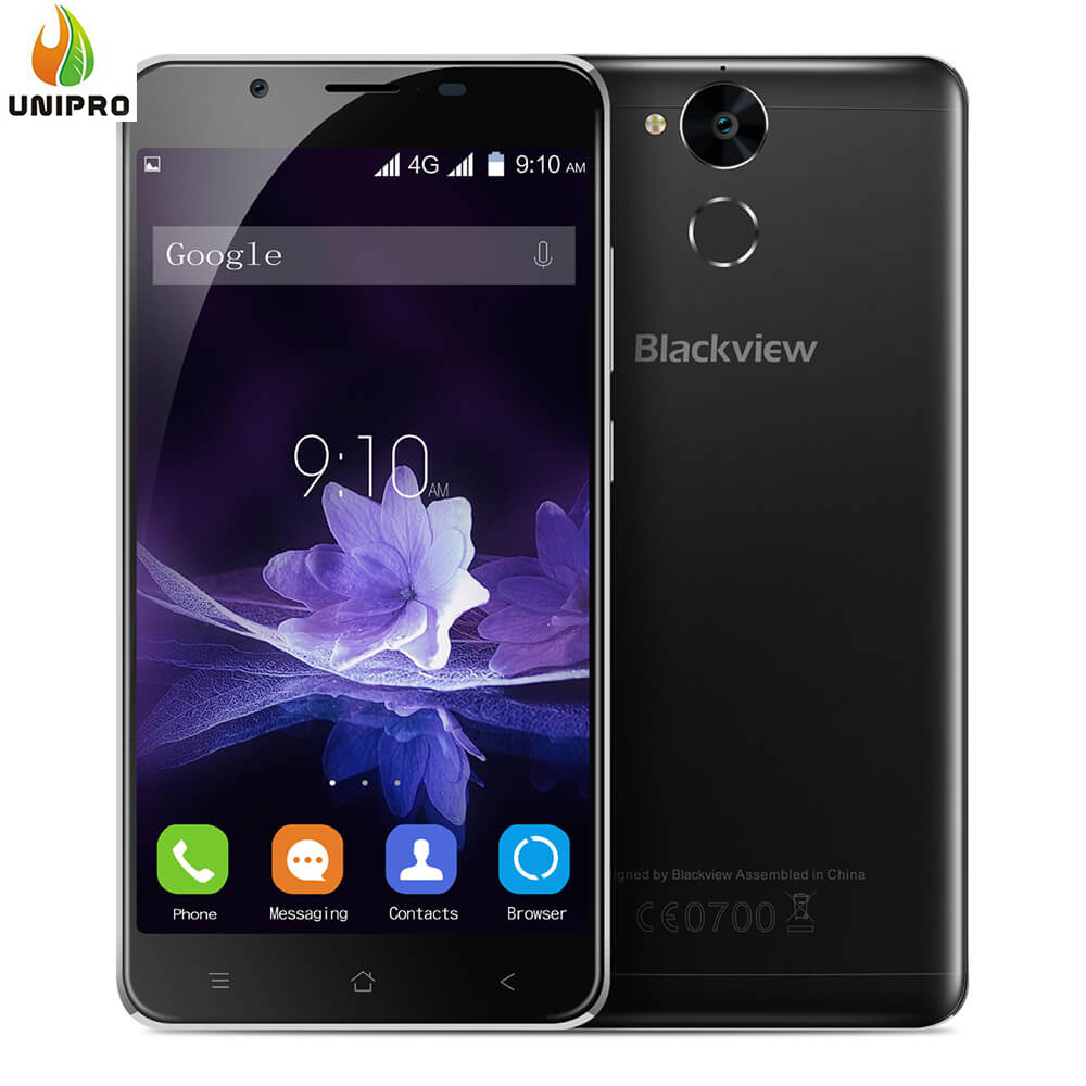 Original Blackview P2 4GB+64GB smartphone 5.5inch FHD Android 6.0 Cell Phone MT6750T Octa Core 6000mAh Camera Mobile Phone