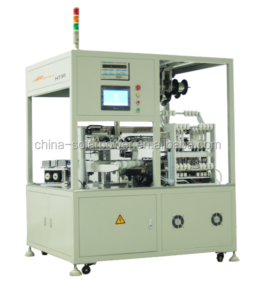 Automatic cut cell tabber stringer machine for cut cell and full cell