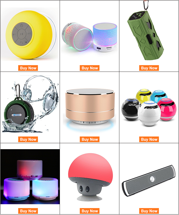 Custom Designed HIFI Smart Mobile Phone Usb Music Mini Led Light Wireless Speaker With Fm Radio