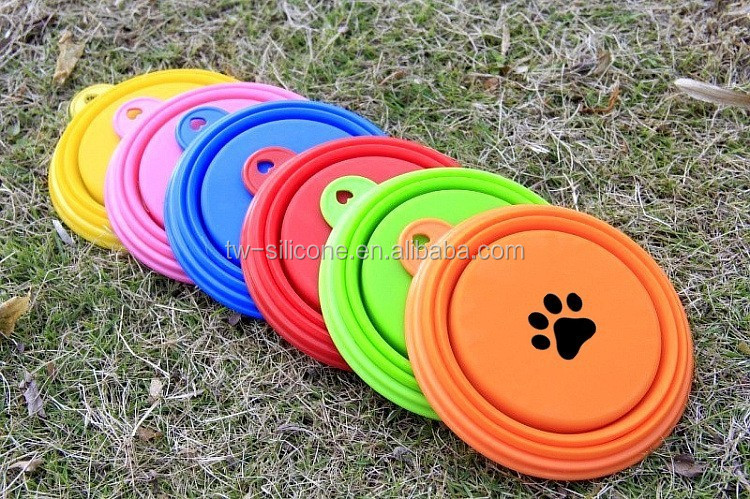 Custom Logo 100% Silicone Foldable Dog Bowls
