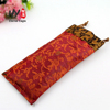 Pick silk material plus fine embroidery jewelry satin bag
