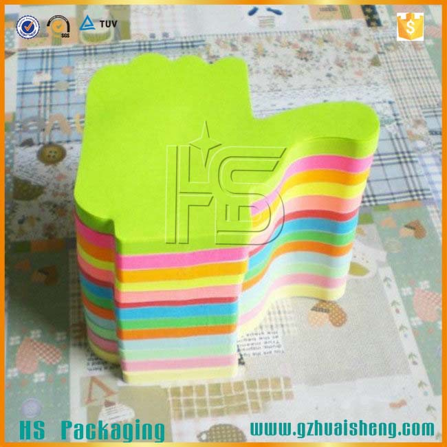 Promotional Self-Adhesive Removable Die Cut Colorful Hand Shaped Sticky Note For Wholesale
