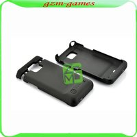 New 2200mAh External power Battery backup back cover Case For Samsung Galaxy S 2 ii i9200 Black