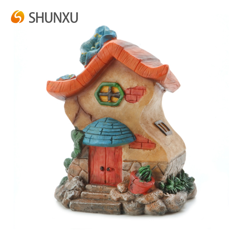 Hot Sale Fairy Story House Resin Gnome Home Garden Decor Accessories Miniature Yard
