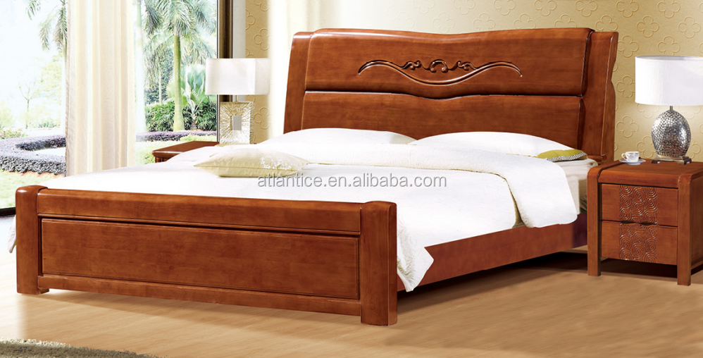 latest design rubber wood double bed - buy latest wooden bed