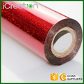 Laser Sandy Red Hot Stamping Foil Roll Based on PET material for Plastic/PVC/Chair/Decoration/Cup/Accessories in Stock