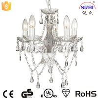 Marie Therese Chandelier Ceiling Light Glass Crystal Available in Gold OR Chrome NS-120148W-1