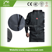 Heavy weight waterproof rain jacket/ trouser suits made of PU polyester