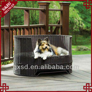 S&D handmade lovely rattan pet bed