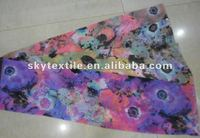 2012 new design printed floral chiffon fabric