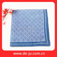 Blue Square Small Check Cheap Pocket Handkerchief