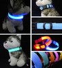 Colorful Nylon Flashing Glow Safety Leashes Collars LED Pet Dog Puppy Cat Collar