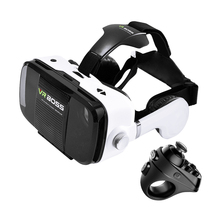 Brilliant quality virtual reality video glasses vr boss z5 3d glasses IN 2016 Better than bobo vr z4 with headphone microphone