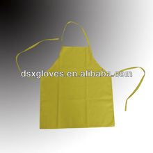 Yellow Cotton Poly Cheap Promotion Apron for wholesale