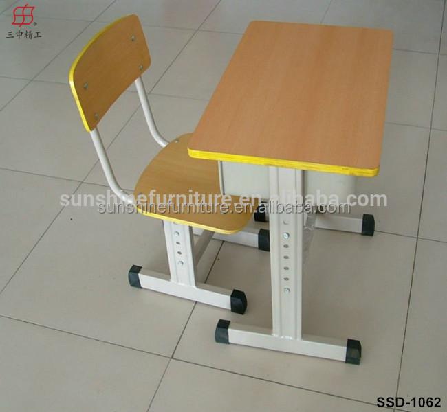 M tal bois unique double tudiant mobilier scolaire cole for Mobilier bureau etudiant