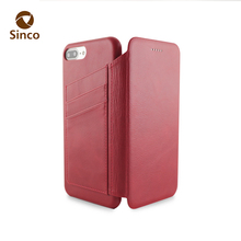 Factory price wholesale leather mobile pouch leather phone case with card holder for iphone