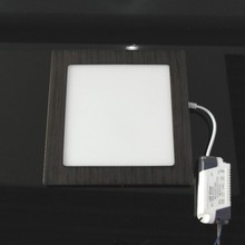 BBWY Ultrathin LED panel light with wooden color housing Dimmable driver