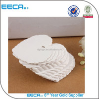 Christmas heart shape paper cards/white hanging tags in China