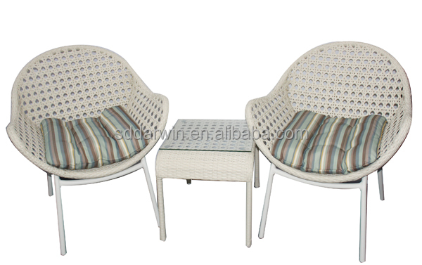 Cebu India white Coffee Shop table chairs rattan outdoor leisure ways patio furniture