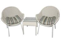 Cebu India white Coffee Shop table chairs rattan outdoor leisure ways patio furniture