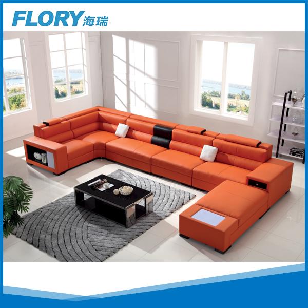 orange leder sofa mit led beleuchtung f1362 wohnzimmer sofa produkt id 1940207877. Black Bedroom Furniture Sets. Home Design Ideas