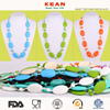 new design Silicone Neckalce Wholesale Colorful Bead Necklace Design for Kids
